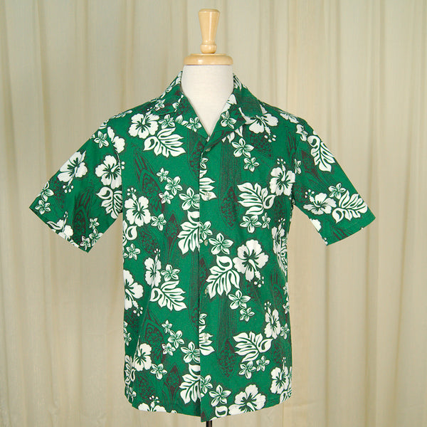80s does 1950s Hawaiian Shirt by Vintage Collection by Cats Like Us - Cats Like Us
