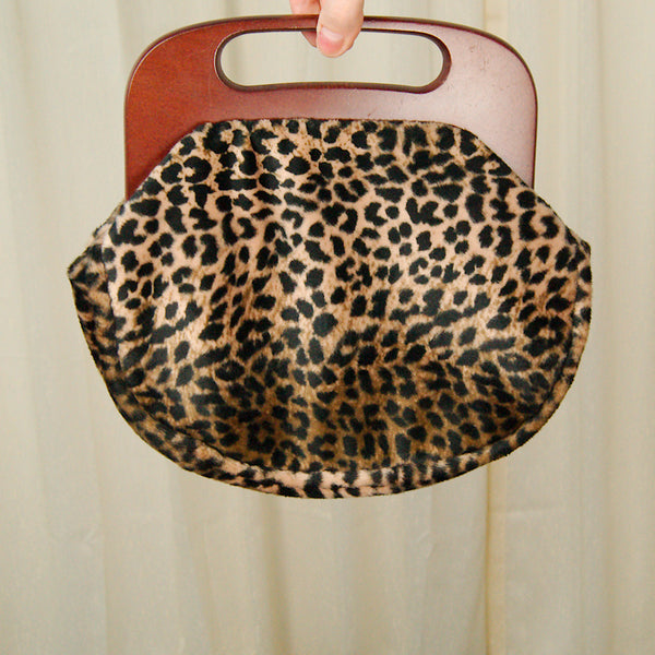 80s does 1950s Leopard Clutch by Cats Like Us - Cats Like Us