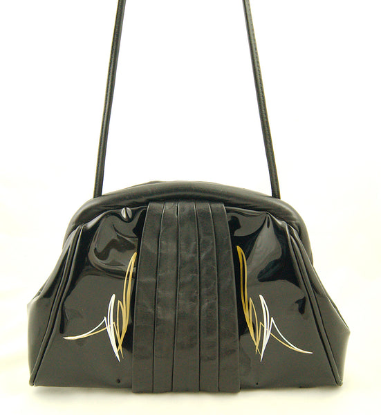 80s does 1950s Patent Handbag by Vintage Collection by Cats Like Us - Cats Like Us
