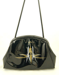 80s does 1950s Patent Handbag