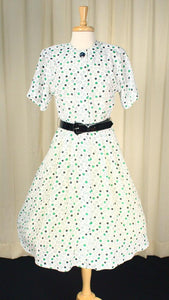 80s does 1950s Polka Dot Dress
