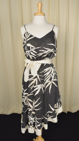 80s does 1950s Vintage Tropical Dress