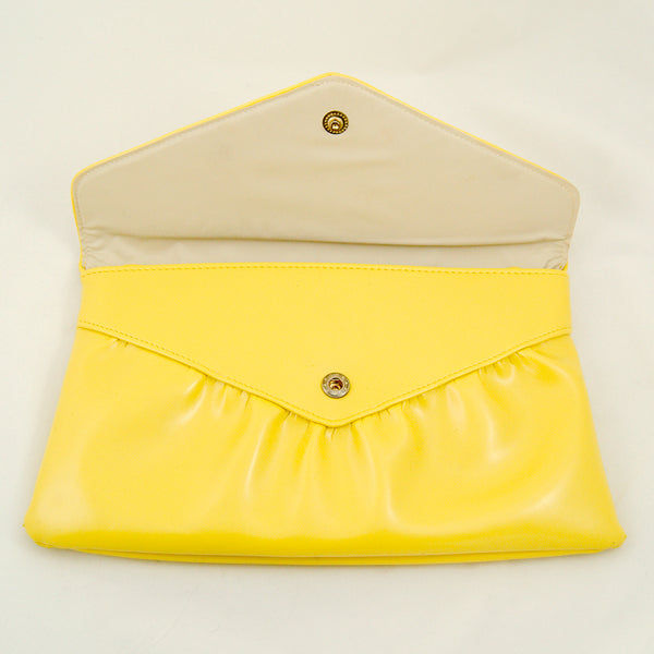 80s does 1950s Yellow Clutch by Cats Like Us - Cats Like Us