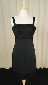 80s does 1960s LBD Fringe Dress
