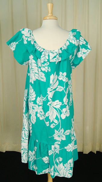 80s does 1960s Ruffle MuuMuu by Vintage Collection by Cats Like Us - Cats Like Us