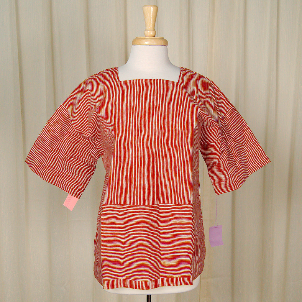 80s does 1960s Striped Tunic by Cats Like Us - Cats Like Us