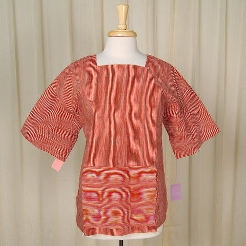 80s does 1960s Striped Tunic