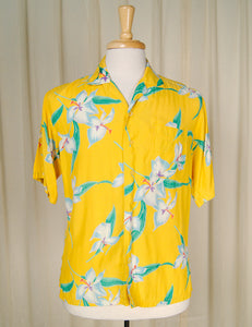 80s does 1960s Tropical Shirt