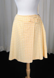 80s does 1960s Yellow Skirt - Cats Like Us