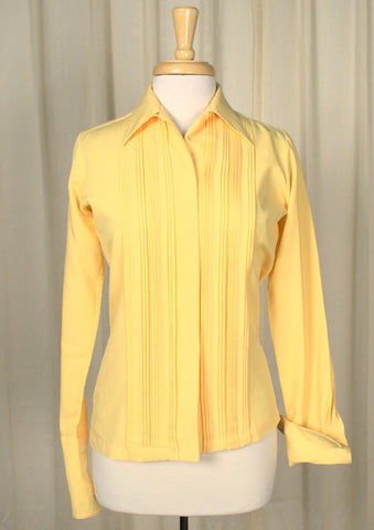 80s does 40s French Cuff Blouse