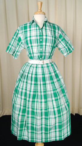 90s does 1950s Plaid Skirt Set