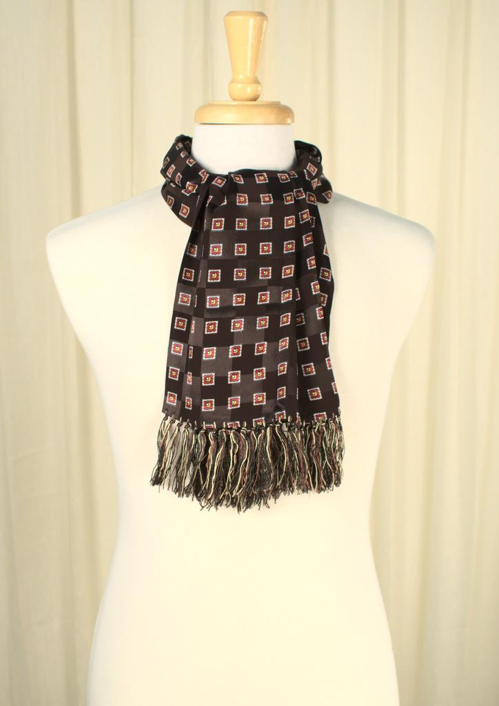 90s does 1950s Squares Scarf - Cats Like Us