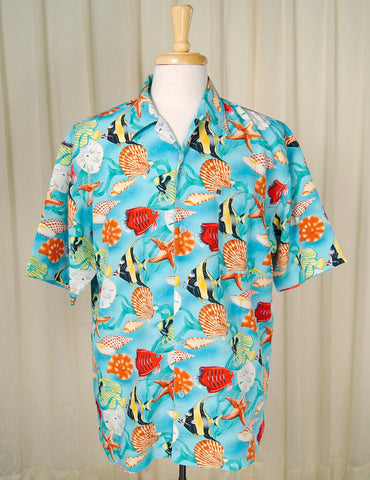 90s does 1960s Fish Shirt