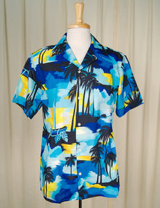 90s does 1960s Palm Tree Shirt by Cats Like Us - Cats Like Us