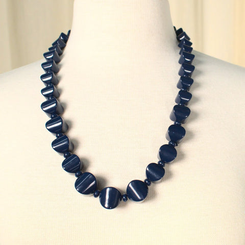 Abstract Navy Necklace Set - Cats Like Us