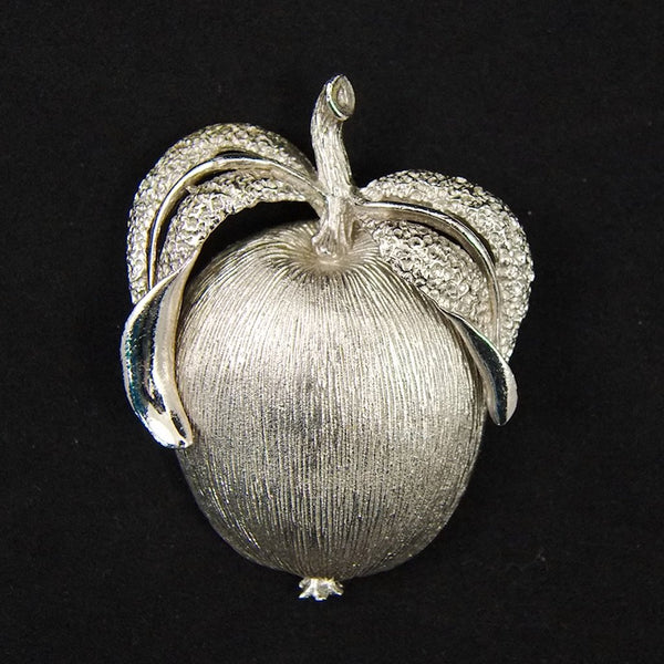Vintage Adam's Delight Apple Brooch Set