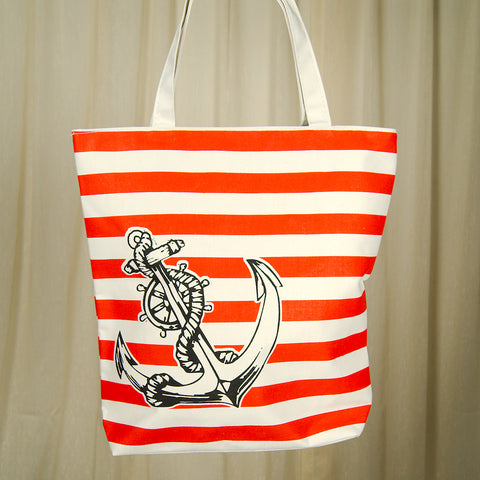 Anchors Away Beach Totebag by Cats Like Us : Cats Like Us