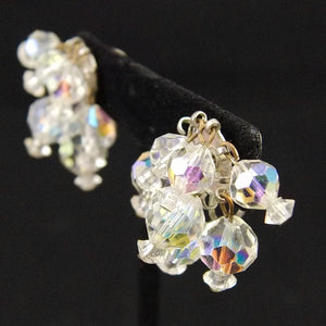 Vintage Aurora Borealis Bead Earrings - Cats Like Us