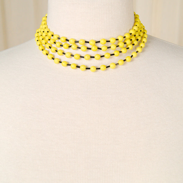 Bee Yellow & Black Necklace by Cats Like Us - Cats Like Us