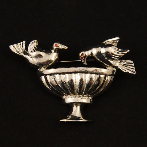 Bird Bath Brooch by Vintage Collection by Cats Like Us : Cats Like Us
