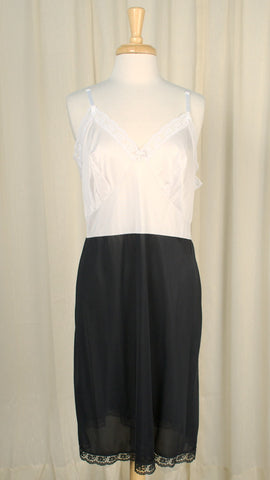 Black & White Vintage Full Slip