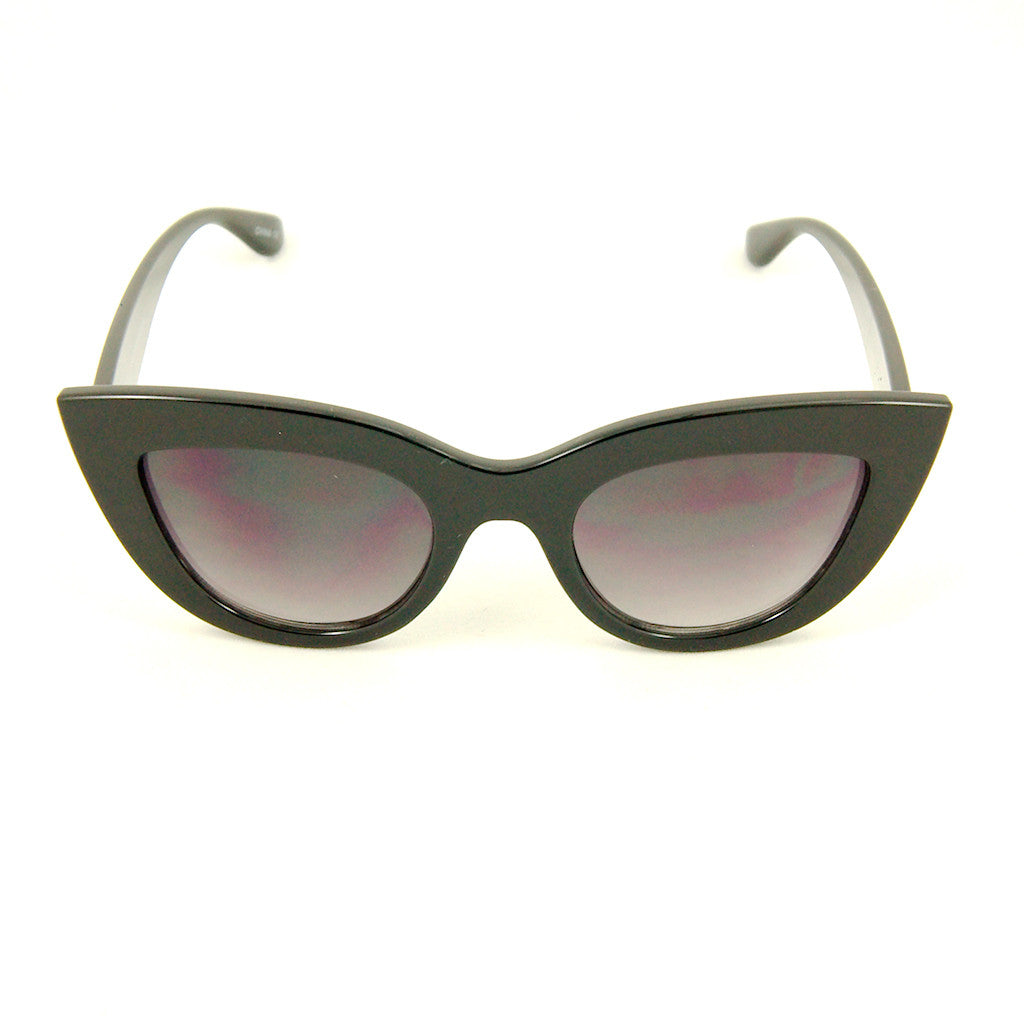Black Bold Cateye Sunglasses by Cats Like Us - Cats Like Us