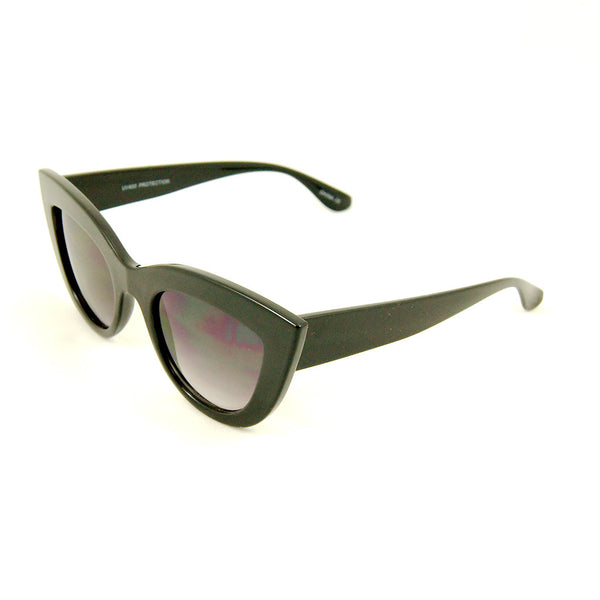 Cats Like Us Black Bold Cateye Sunglasses for sale at Cats Like Us - 2