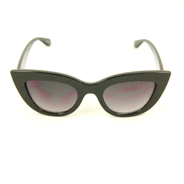 Black Bold Cateye Sunglasses