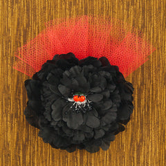 Black Cherry Floral Fascinator