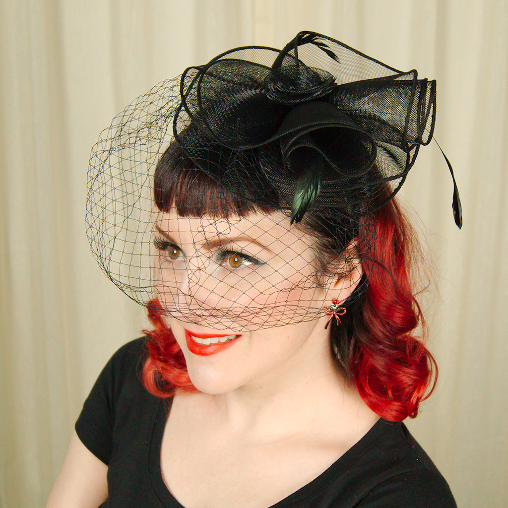 Black Fascinator Headband by Cats Like Us : Cats Like Us