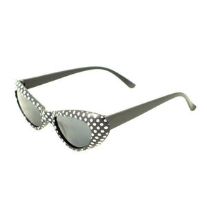 Black Meow Polka Dot Sunglasses