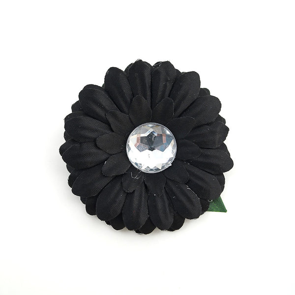 Black Mini Bling Daisy Flower
