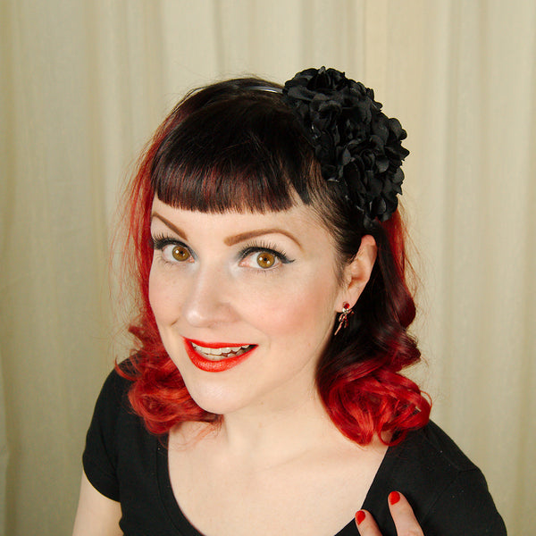 Black Rosette Headband - Cats Like Us