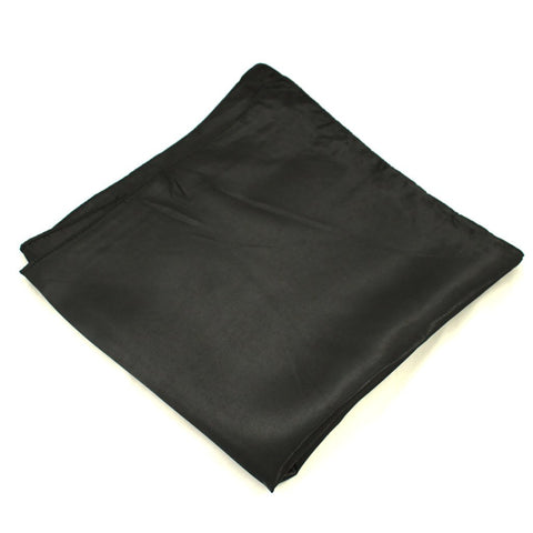 Black Satin Hair Scarf