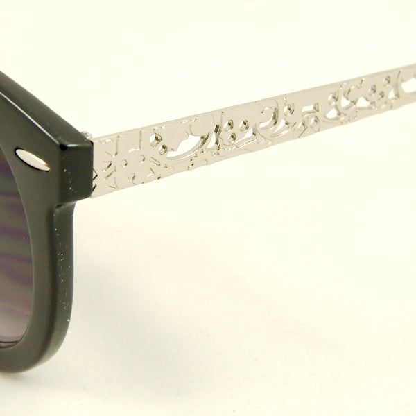Cats Like Us Blk Silver Abstract Sunglasses for sale at Cats Like Us - 2