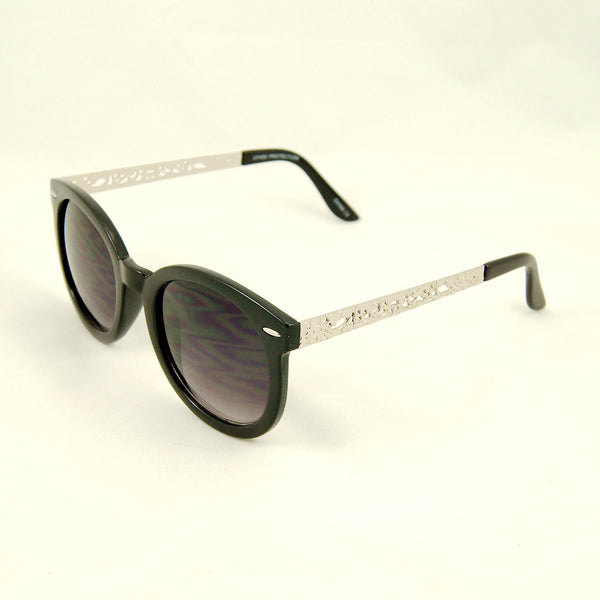 Cats Like Us Blk Silver Abstract Sunglasses for sale at Cats Like Us - 3