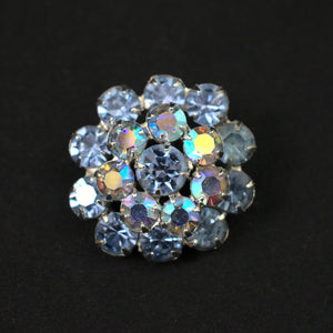 Blue Aurora Borealis Brooch - Cats Like Us