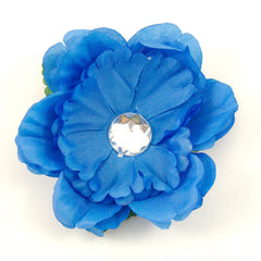 Blue Bling Hair Flower