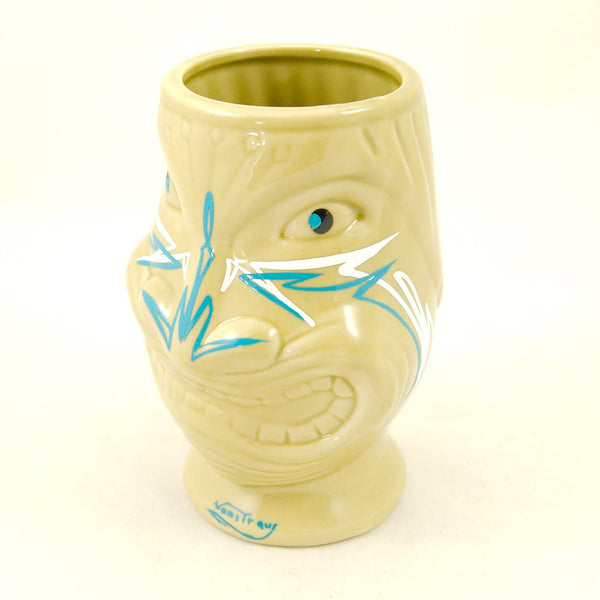 Blue Nose Pinstriped Tiki Mug - Cats Like Us