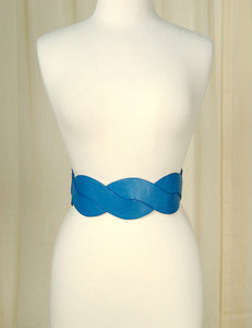 Blue Swirl Cinch Belt - Cats Like Us