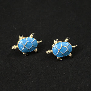 Blue Turtle Scatter Lapel Pins - Cats Like Us