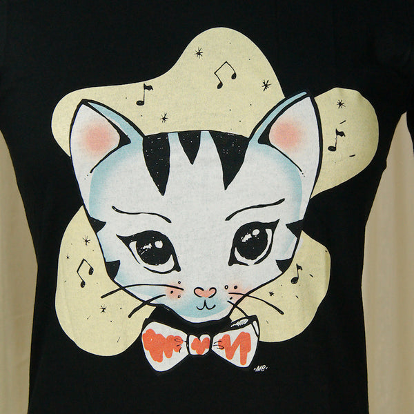 Heart of Haute Bowtie Kitty T Shirt for sale at Cats Like Us - 2
