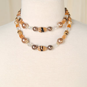 Brown Double Strand Necklace