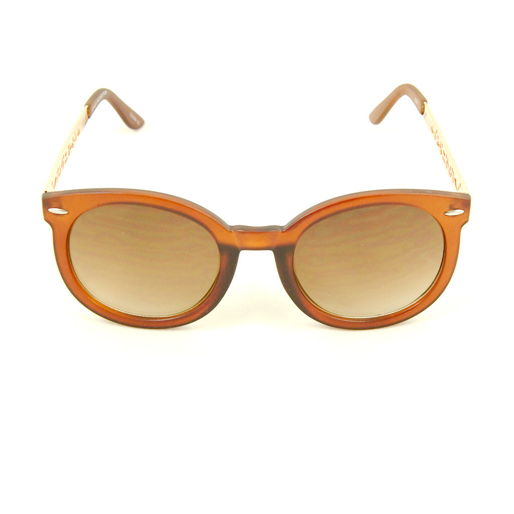 Cats Like Us Brown Gold Abstract Sunglasses for sale at Cats Like Us - 1