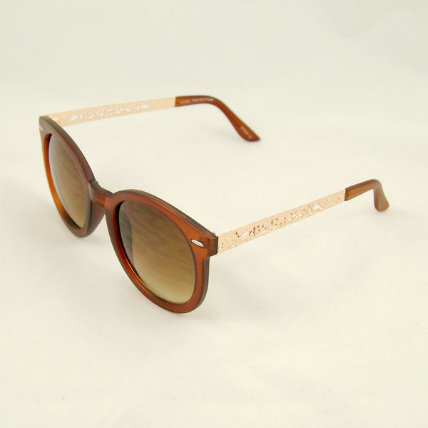 Cats Like Us Brown Gold Abstract Sunglasses for sale at Cats Like Us - 2