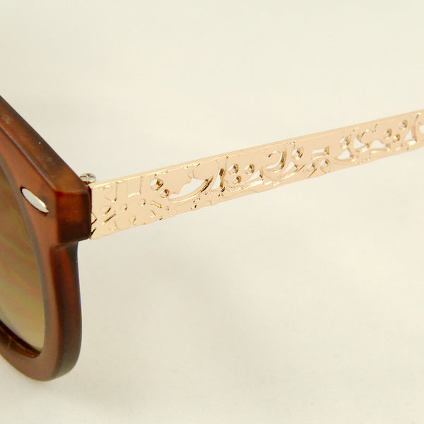 Cats Like Us Brown Gold Abstract Sunglasses for sale at Cats Like Us - 3
