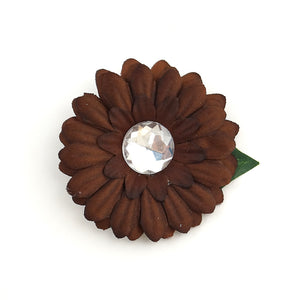 Brown Mini Bling Daisy Flower - Cats Like Us
