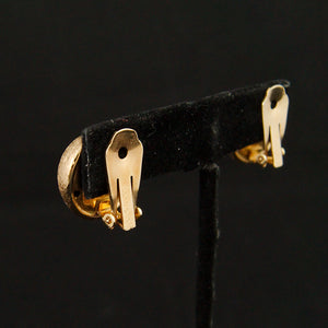 Brushed Gold Clip On Earrings