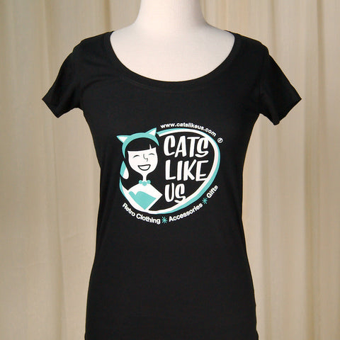 Cats Like Us Scoop Neck T - Cats Like Us