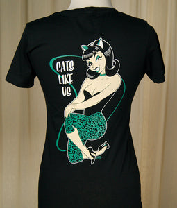 Cats Like Us V Neck T Shirt